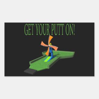Get Your Putt On Rectangular Sticker