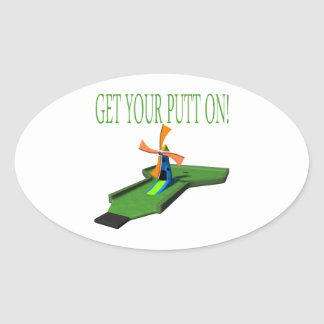 Get Your Putt On Stickers