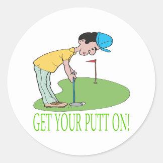 Get Your Putt On Sticker