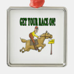 Get Your Race On Christmas Tree Ornament
