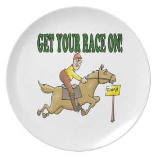 Get Your Race On Dinner Plates