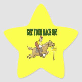 Get Your Race On Star Sticker