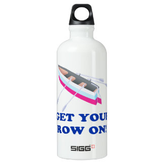 Get Your Row On Aluminum Water Bottle