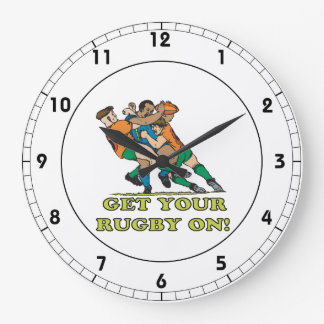 Get Your Rugby On Wall Clock