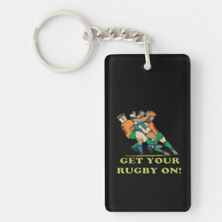 Get Your Rugby On Keychain