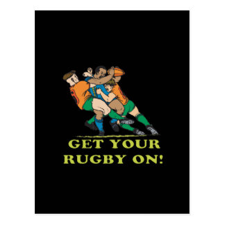 Get Your Rugby On Postcard