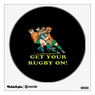 rugby wall decals wall stickers zazzle
