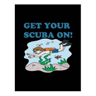 Get Your Scuba On Postcard