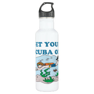 Get Your Scuba On Water Bottle