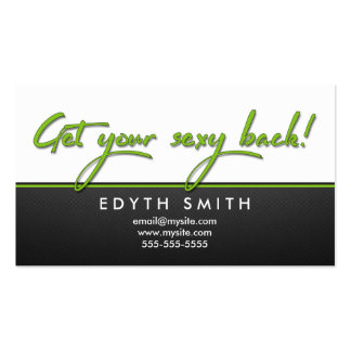 Get your sexy back - It Works Body Wrap Business Card