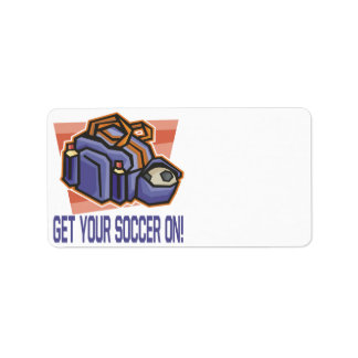 Get Your Soccer On Address Label