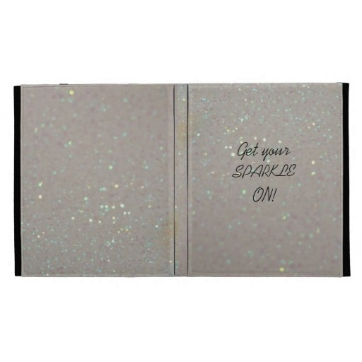 Get your Sparkle on faux glitter ipad 1/2/3 case iPad Folio Case