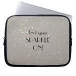 Get your Sparkle on - Faux glitter laptop case Laptop Computer Sleeve