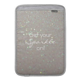 Get your Sparkle on - faux glitter & sparkles Sleeves For MacBook Air