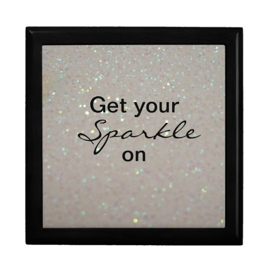 Get your Sparkle on - fun pink glitter jewelry box