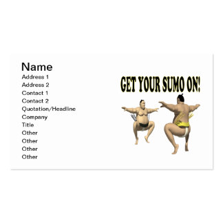 Get Your Sumo On Business Card