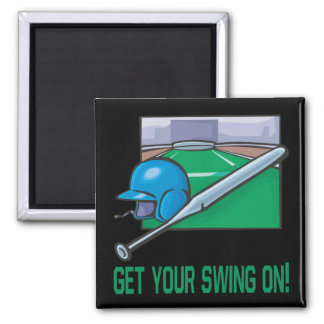 Get Your Swing On 2 Inch Square Magnet