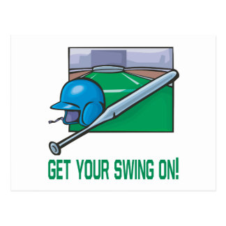 Get Your Swing On Postcard