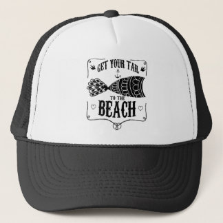 Get your tail to the beach trucker hat