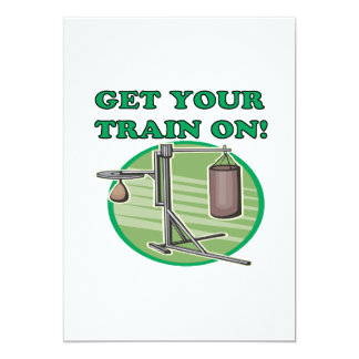 Get Your Train On Card