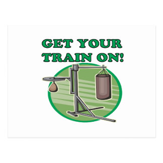 Get Your Train On Postcard