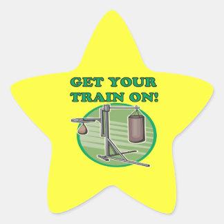 Get Your Train On Star Sticker