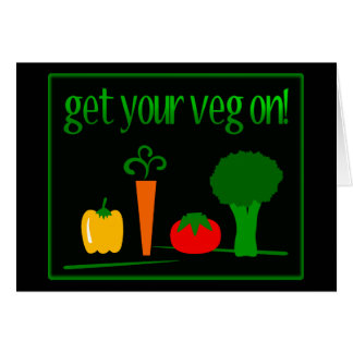 Get Your Veg On! With Assorted Veggies Card