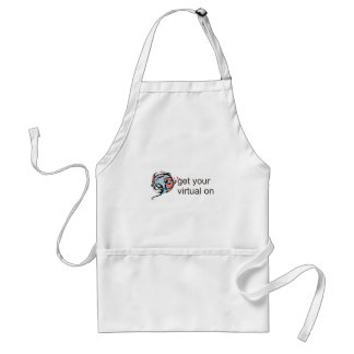 get your virtual on adult apron