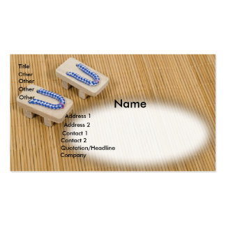 GetaSandalsMat, Name, Address 1, Address 2, Con... Business Card Template