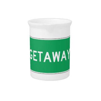 Getaway, Road Marker, Ohio, USA Pitchers