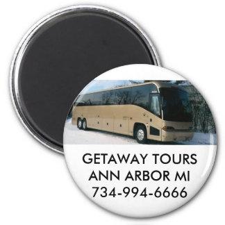 GETAWAY TOURS ANN ARBOR MI734-994-6666 2 INCH ROUND MAGNET