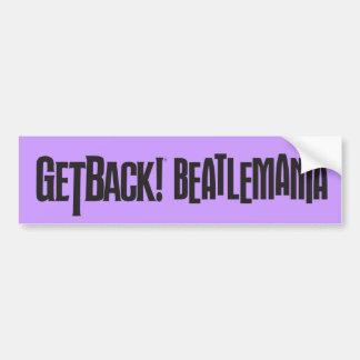¡GetBack! Pegatina para el parachoques de Beatlema Etiqueta De Parachoque