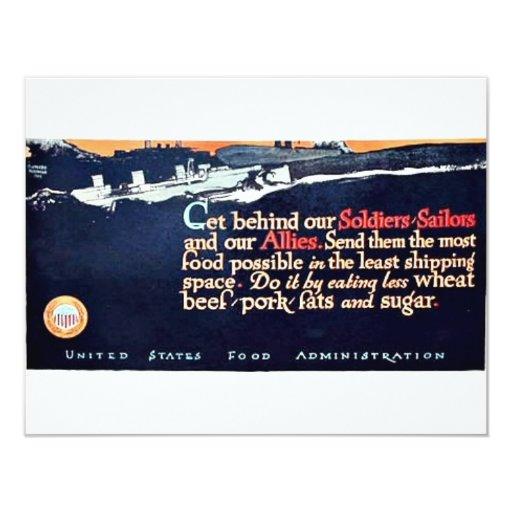 Getbehind 4.25x5.5 Paper Invitation Card