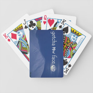 Getcha POW Face On Snowboard Playing Cards