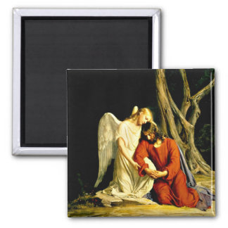 Gethsemane - artwork by Carl Bloch 2 Inch Square Magnet