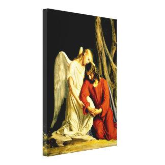 Gethsemane - artwork by Carl Bloch Canvas Print