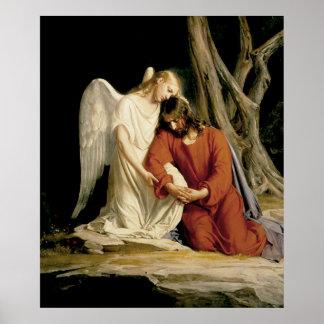 Gethsemane by Bloch digitally restored. Poster