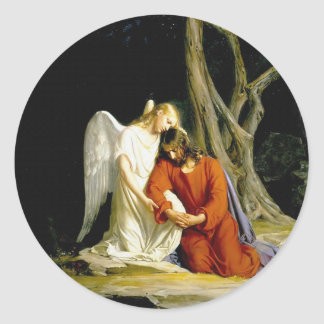 Gethsemane by Carl Heinrich Bloch 1805 Classic Round Sticker