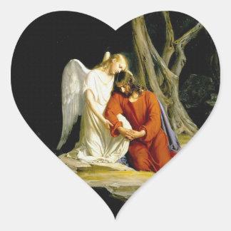 Gethsemane by Carl Heinrich Bloch 1805 Heart Sticker