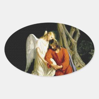 Gethsemane by Carl Heinrich Bloch 1805 Oval Sticker