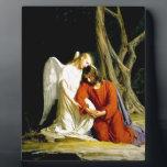 "Gethsemane Carl Bloch Plaque<br><div class=""desc"">Carl Bloch - An angel comforting Jesus before his arrest in the Garden of Gethsemane</div>"