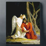 "Gethsemane Carl Bloch Plaque<br><div class=""desc"">Carl Bloch - An angel comforting Jesus before his arrest in the Garden of Gethsemane</div>"