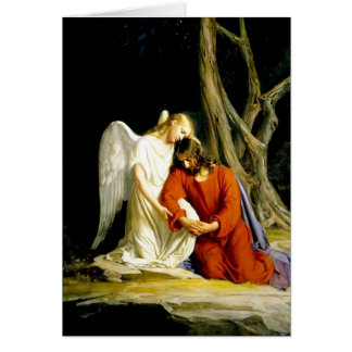 Gethsemane Carl Bloch Tarjetón