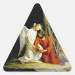 Gethsemane de Carl Heinrich Bloch 1805 Pegatinas Triangulo Personalizadas
