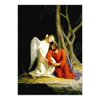 """Gethsemane. Tarjetas del personalizable de la Invitación 5"""" X 7"""""""
