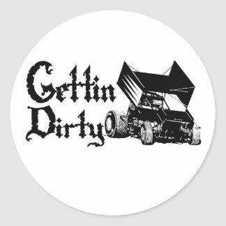 Gettin1 Classic Round Sticker