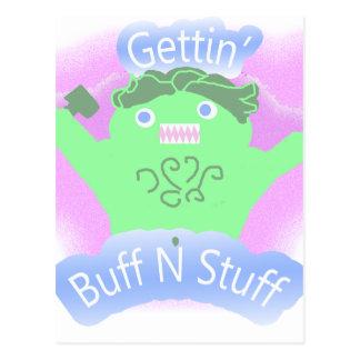 Gettin Buff N Stuff Postcard