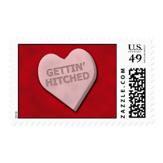 Gettin' Hitched Postage Stamp