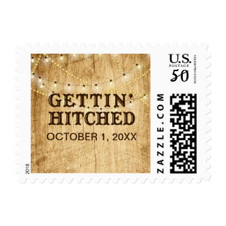 Gettin' Hitched stamp for Country Wedding