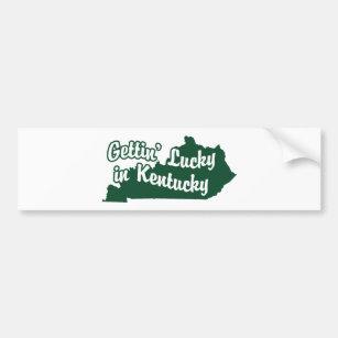 Gettin' Lucky in Kentucky Bumper Sticker